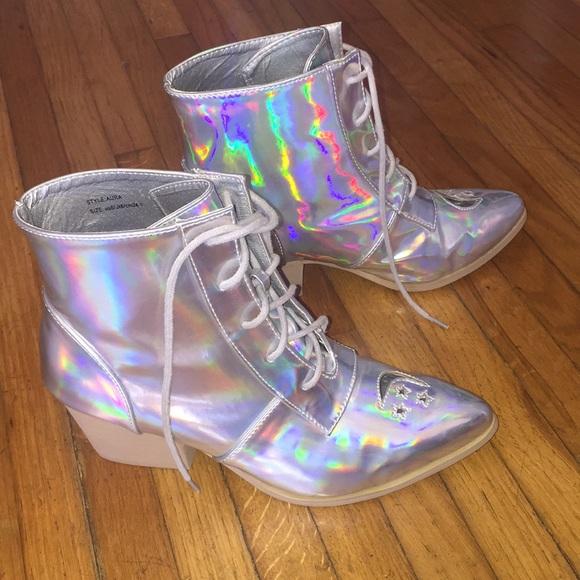 YRU Shoes | Yru Holographic Boots